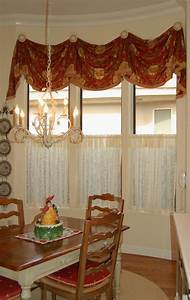 Kitchen Valance With Caf Curtain Home Decoration DIY