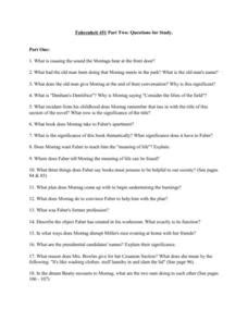 Fahrenheit 451 Study Questions Part 2 Worksheet For 9th  12th Grade  Lesson Planet