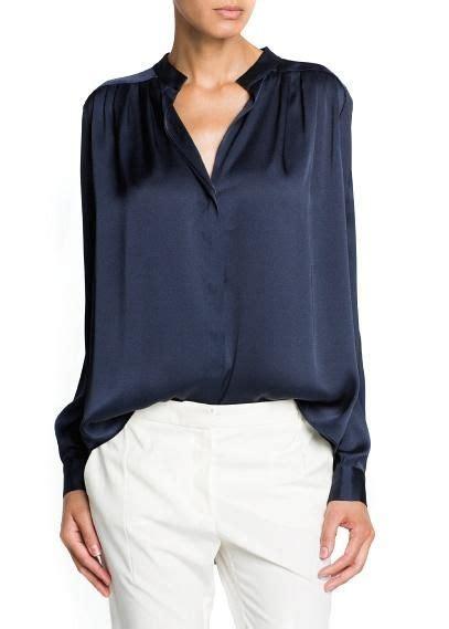satin finish flowy blouse women trends  mango
