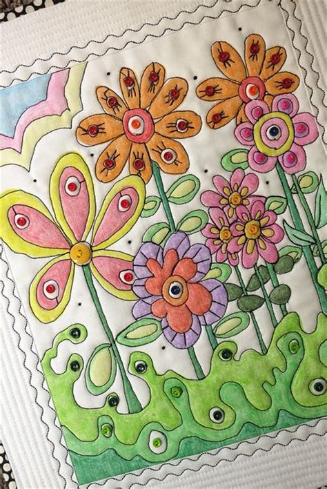 Coloring Quilt Blocks With Crayons by 27 Best Crayon Tinted Embroidery Images On