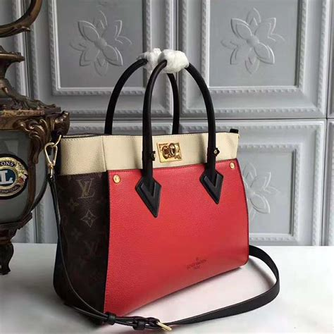 louis vuitton lv women   side bag  small grained calf leather red lulux