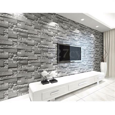 brick stone effect  wallpaper wall sticker paper