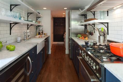turning a galley kitchen into an open kitchen galley kitchen makeover ideas to create more space 9901