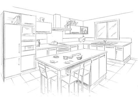 dessiner plan cuisine dessiner une cuisine maison françois fabie