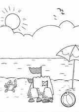 Beach Coloring Pages Colouring Sheets Printable Activity Items Australiana Bestcoloringpagesforkids Preschool Drawing Boys Camping Summer Getdrawings Da Para Colorear Reunion sketch template