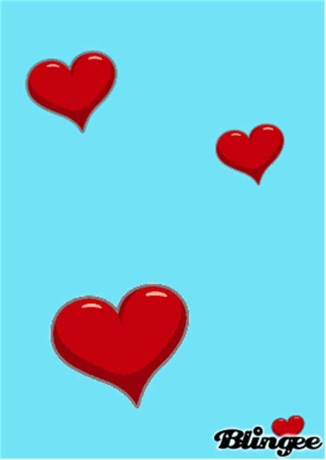 fond d ecran qui bouge fond bleu avec coeur picture 109154966 blingee