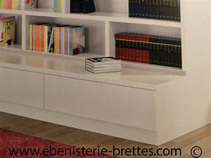 Ikea Bibliothèque Blanche : bibliotheque blanche contemporaine avec etageres ouvertes ebenisterie brettes ~ Teatrodelosmanantiales.com Idées de Décoration