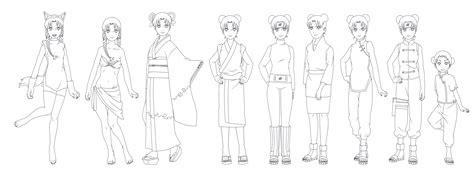 Tenten Outfit Outlines NARUTO by SunakiSabakuno on DeviantArt