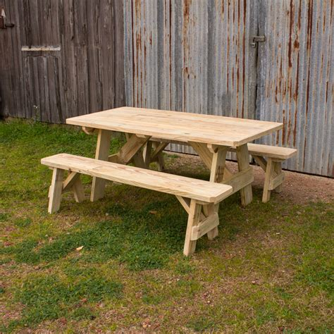 Traditional Benches by Traditional Picnic Table W 2 Benches