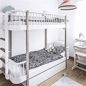 Luxury Wood Bunk Beds With End Ladder In Oak By Oliver
