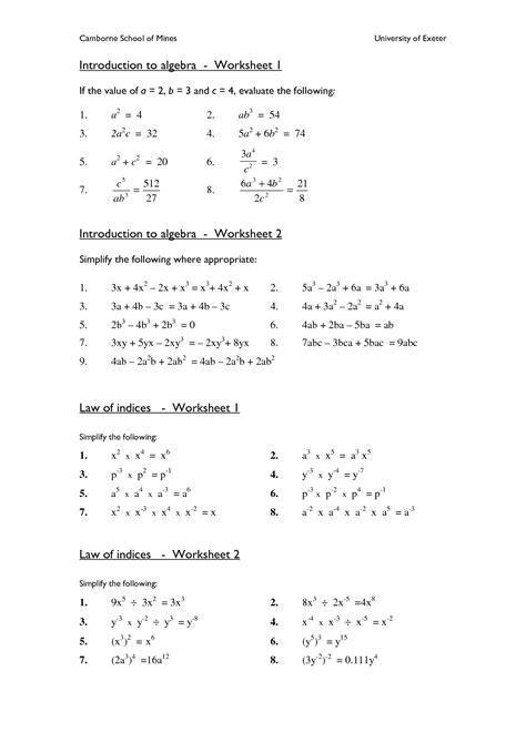 Printable Math Worksheets For Algebra 2  Top 6 Places For Algebra Ii Worksheets And Homework