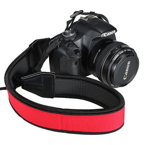 Red Camera Neck Strap For Canon Nikon Pentax Sony All
