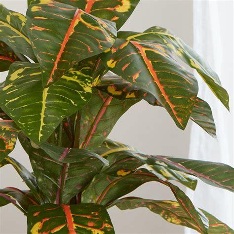 artificial croton plant artificial greenery floral