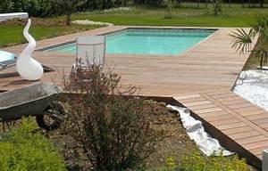 Bois Pour Terrasse Piscine : terrasse bois plage de piscine ~ Edinachiropracticcenter.com Idées de Décoration