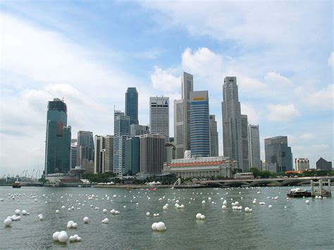 Singapore skyline | A view of Singapore's downtown from ...