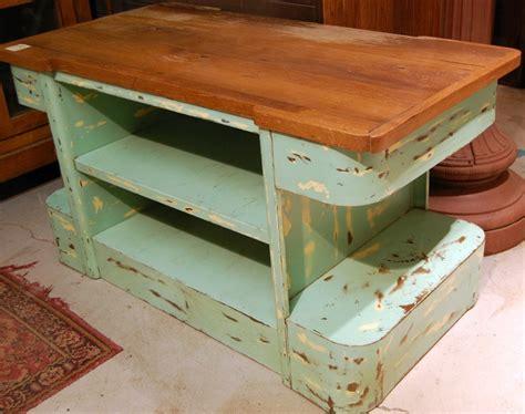 vintage kitchen island table vintage industrial metal kitchen island repurposed factory table wood top