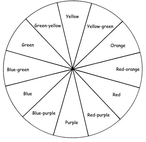 blank color wheel 12 best images of color theory worksheet color wheel