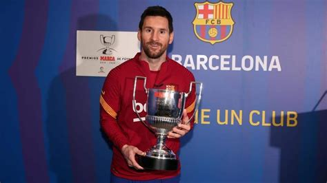 Legend Lionel Messi collects record seventh Pichichi award