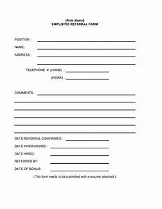 employee referral form With doctor referral form template