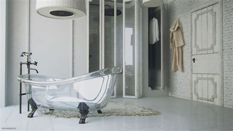 baignoire verre transparente soocurious
