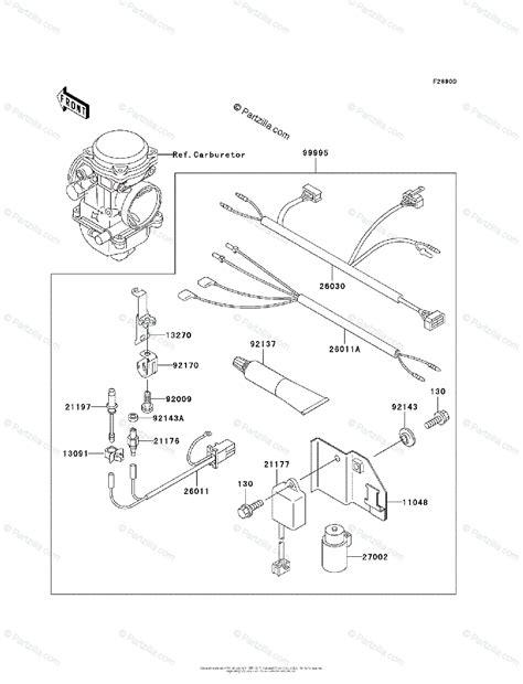 Kawasaki Atv Oem Parts Diagram For Optional
