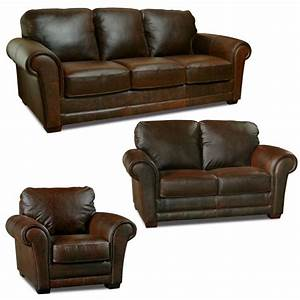 Luke leather quotmarkquot italian leather distressed chocolate for 3 piece brown leather sectional sofa