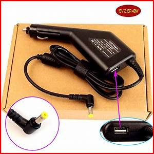 Laptop Dc Power Car Adapter Charger 19v 2 15a   Usb Port
