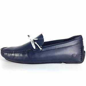 Lacoste Lacoste Piloter Corde 117 Navy Blue Leather Slip ...