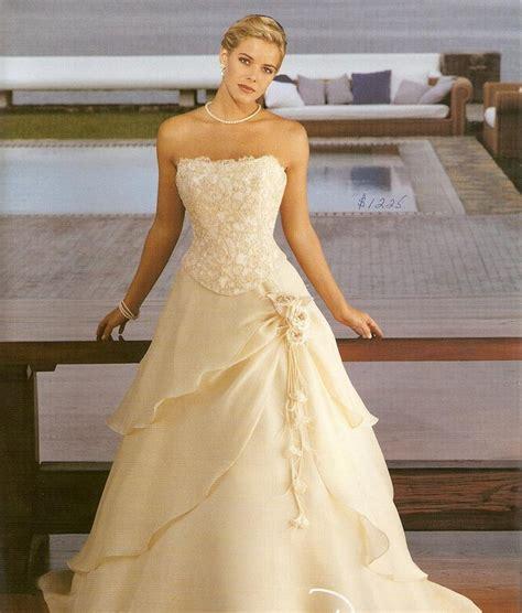 Chiffon Gold Wedding Dress Dresscab