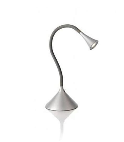 lada da tavolo philips ledino 69063 led alluminio lada da tavolo grigio