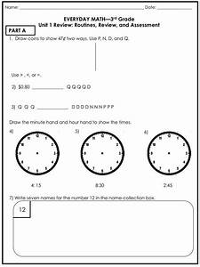 Everyday Math 4th Grade Worksheets Everyday Math Review