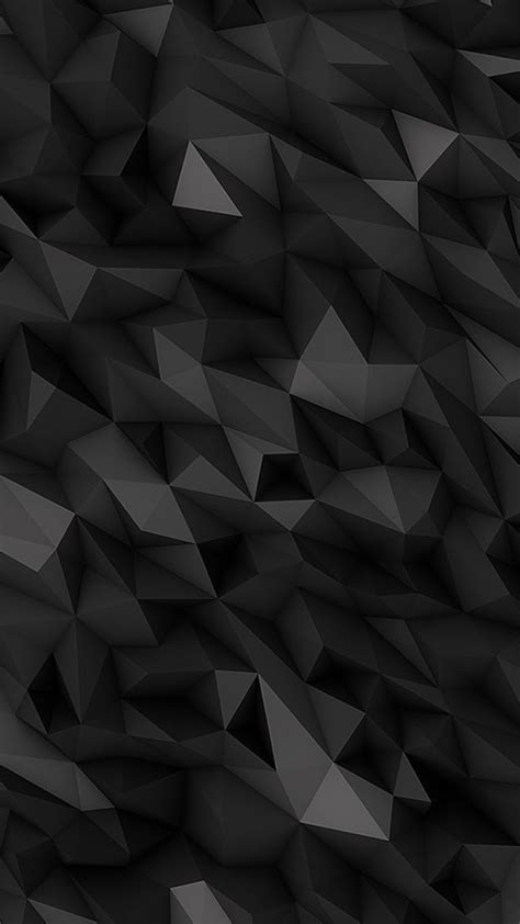 Abstract Black by Galaxy Note Hd Wallpapers 3d Abstract Polygons