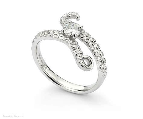 the kraken ring ocean inspired engagement rings