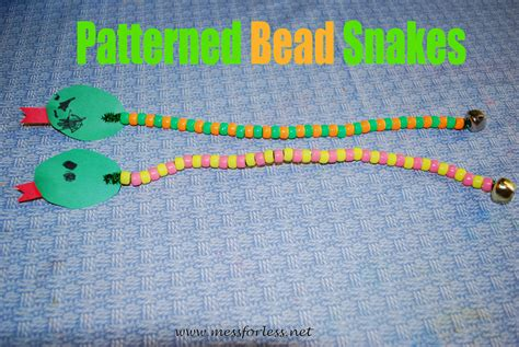 patterned bead snakes fun family crafts