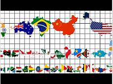 Country Size Comparison All 195 Flag Map Ranking YouTube