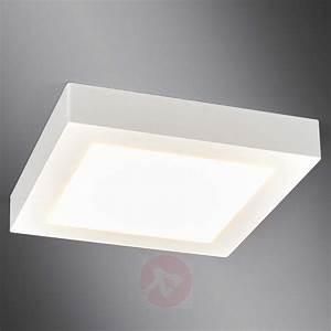 White Square LED Bathroom Ceiling Light Rayan