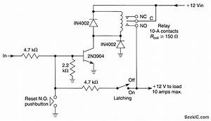 Latching Relay Driver For Uff0b12 V Loads