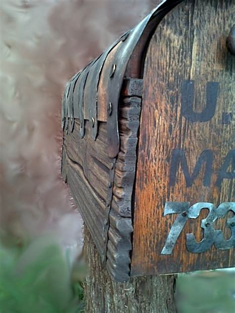 country style rustic mailbox  metal forging