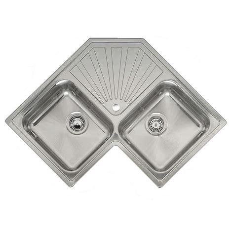 reginox montreal double bowl corner sink sinks tapscom