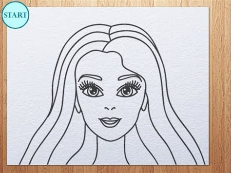 draw barbie face youtube