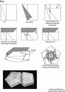 Diagrams For Cherry Blossom Modular Origami Box