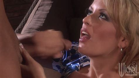 Gorgeous Blonde Milf Stormy Daniels Swallows Cum Of A