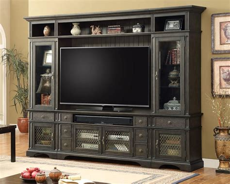 Parker House Tv Entertainment Center Wall Unit Bohemian. Charcoal Gray Sofa. Front Yard Walkway. Tempered Glass Coffee Table. Lanai Patio. Recessed Track Lighting. Updated Bathrooms. Woods Wallpaper. Ikea Besta