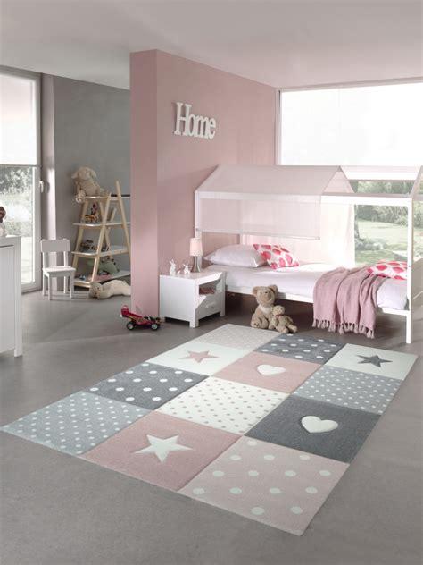Teppichtraum  Teppich Für Kinderzimmer Mit Stern, Herz