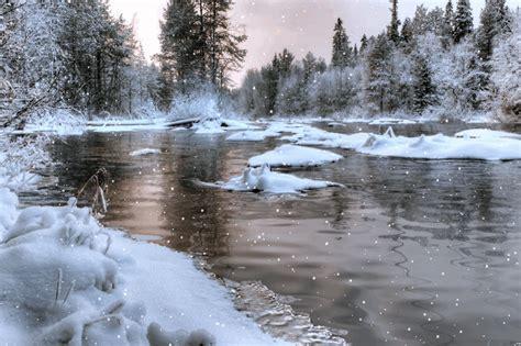Animated River Wallpaper - animated snowy river by aim4beauty on deviantart