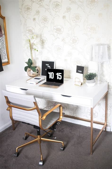 ikea office desk chair white and gold desk ikea hack money can buy lipstick