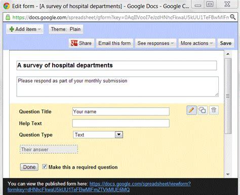 google forms  surveys