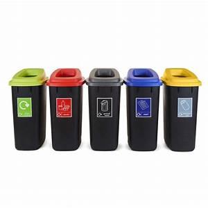 Open, Top, Recycling, Bins