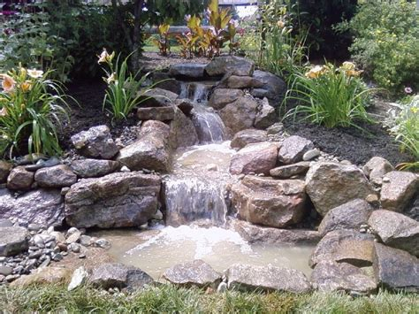 waterfall design ideas pondless waterfall build pond water features water