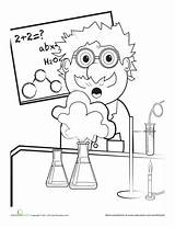 Coloring Science Scientist Mad Lab Worksheets Scientific Pages Worksheet Education Grade Safety Explosion Fair Experiment Sheets Printable Cartoon Chemistry Preschool sketch template